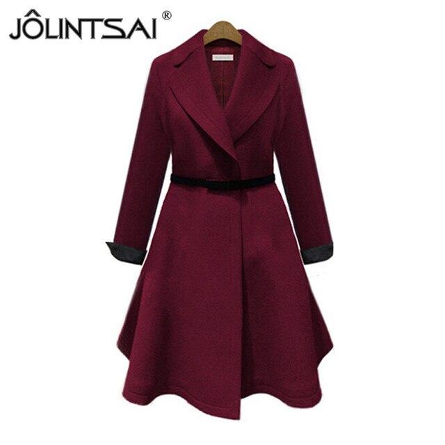 913894ea1397 Hot Sale 2016 New Fashion Woolen Coat Woman Jacket Autumn&Winter Overcoat  Long-sleeve Solid Clothes