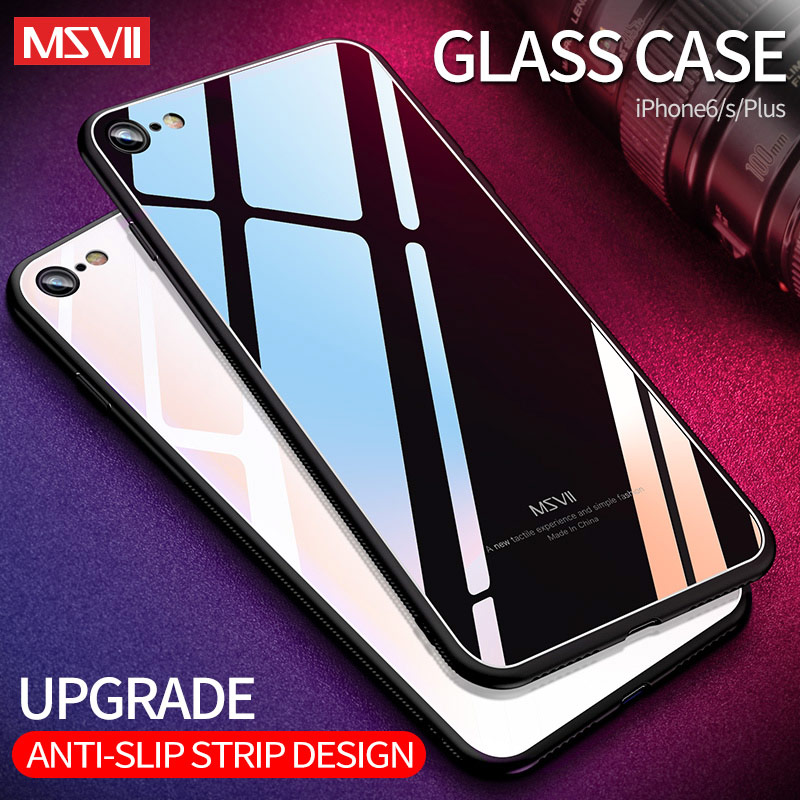 MSVII Cover For iPhone 6 6s 7 8 Plus Case X Coque For Apple iPhone X Case Silicone Mirror Glass Cover For iPhone XR XS MAX CasesMSVII Cover For iPhone 6 6s 7 8 Plus Case X Coque For Apple iPhone X Case Silicone Mirror Glass Cover For iPhone XR XS MAX Cases