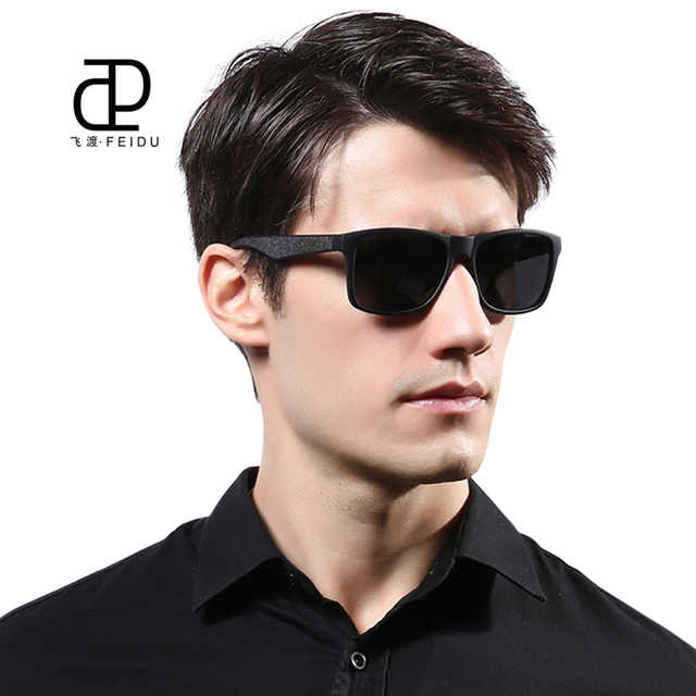 b2ea917971d FEIDU Classic Brand Polarized Original Sunglasses Men Retro Elastic  Plastics Frame Sun glasses For Women Eyewear