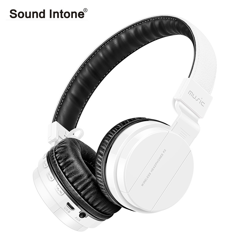 Sound Intone P2+ bluetooth headphone With Mic Support TF Card FM Radio Stereo Over-Ear wireless headset for laptop phone bluetooth wireless stereo headset audio connection card player fm radio headphone earphone with mic tf card mp3 supported