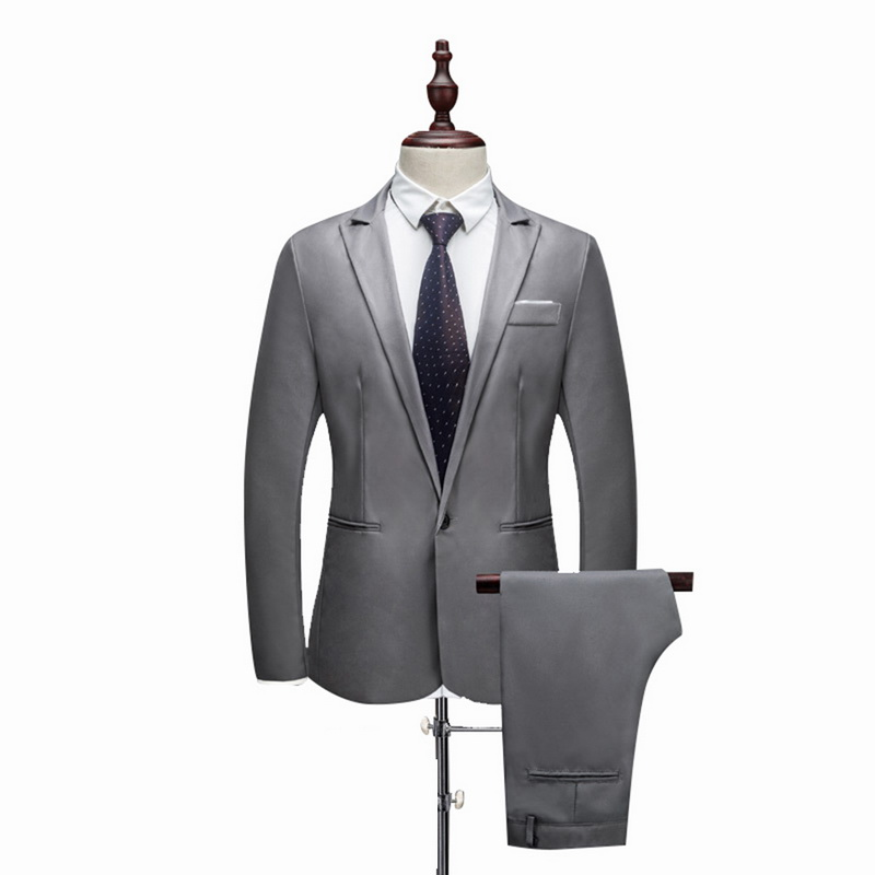 Heflashor Luxury Men Wedding Suit Formal Male Blazers Slim Fit Suits Costume Business Party Smart Suits Brand (jacket+pants) #4