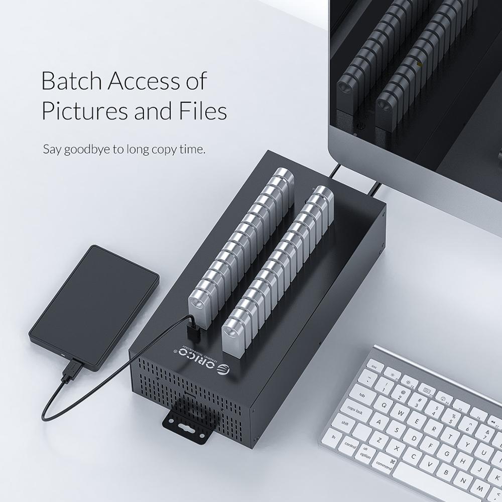 Image 5 - ORICO 30 Ports Industrial USB2.0 Hub for TF SD Card Reader U disk Data Test Batch Copy   Blackusb2.0 hubhub portport hub -