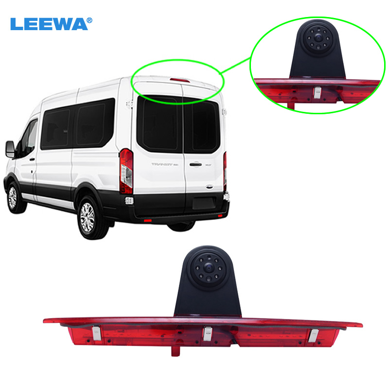 Car LED Brake Light IR Rear View Reversing/Parking Camera For FORD Transit L MODEL 2014-2015  #CA5375 for ford escape maverick mariner car parking sensors rear view back up camera 2 in 1 visual alarm parking system