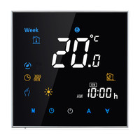Touchscreen Weekly Programmable Boiler Wifi Thermostat On Off Control Of Gas Boiler Dry Contact Smart Phone