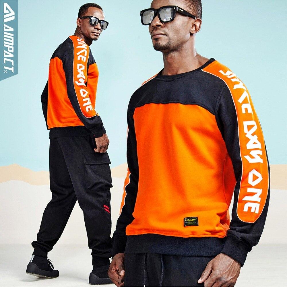 Mode Hip Hop pull et pantalon ensembles actifs Streetwear survêtement ensembles sport Joggers Sweatshirts pantalons ensembles par Aimpact