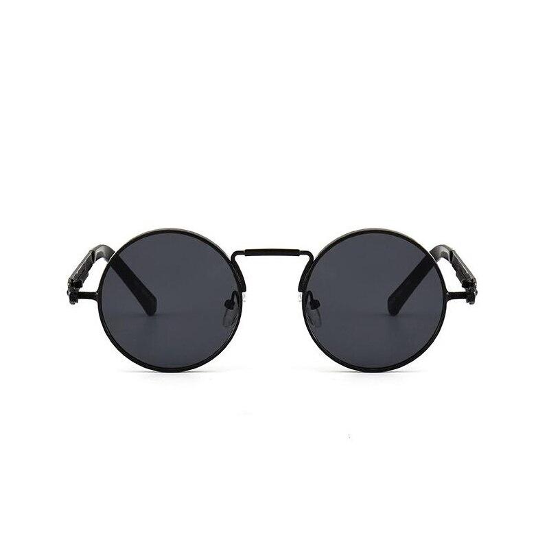 Círculo redondo Steampunk gafas de sol hombres mujeres vintage retro gafas de sol diseño de marca espejo lente lujo calidad UV400