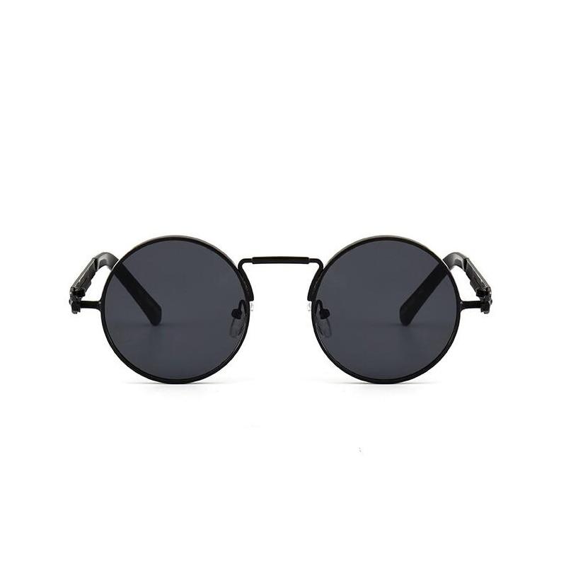 Cerchio rotondo Steampunk Occhiali Da Sole Uomo Donna Vintage Retro Occhiali Da Sole di Marca Disegno Lente A Specchio di Qualità di Lusso Occhiali UV400