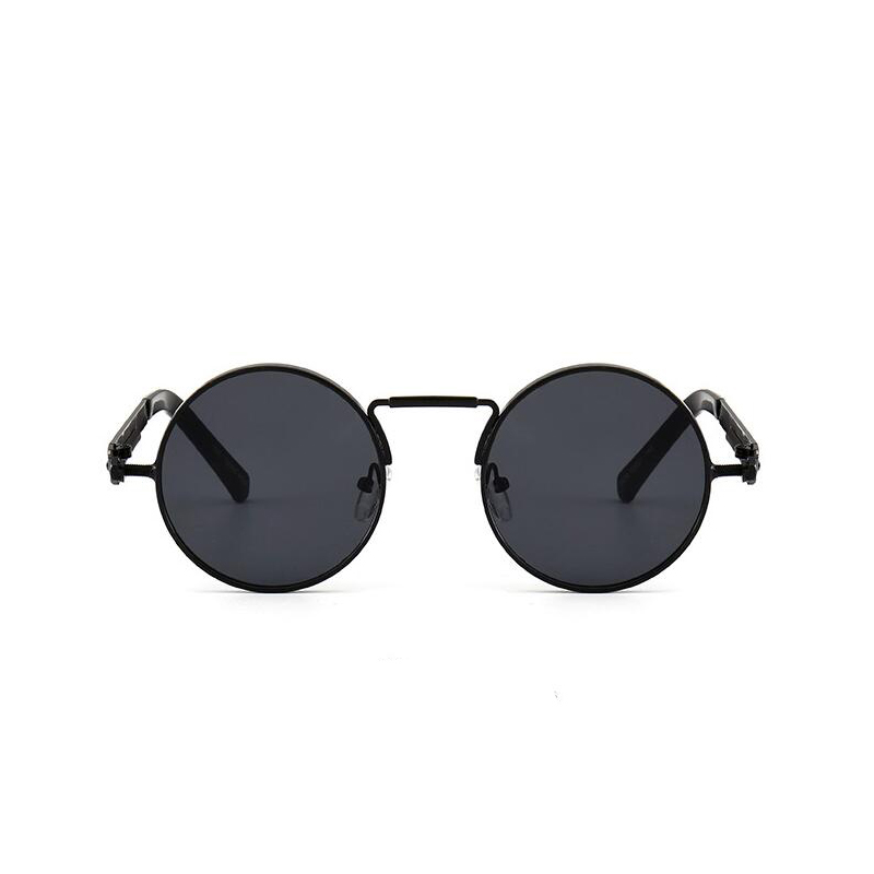 Round Circle Steampunk Sunglasses Men Women Vintage Retro Sunglass Brand Design Mirror Lens Luxury Quality Eyeglasses UV400
