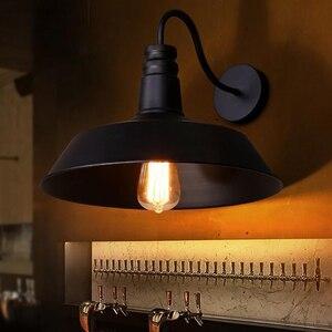 Image 2 - Americano retrò lampada da parete industriale vecchia strada lampada camera da letto corridoio balcone creativo lampada da parete in ferro
