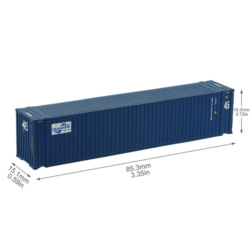 2pcs 45ft Containers 1:150 N Scale Shipping Container Freight Car Model Trains Lot C15010 Railway Modeling