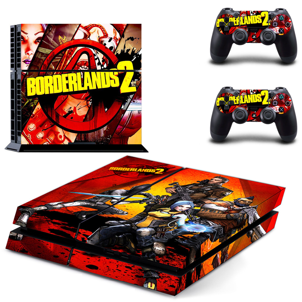 US $7 59 5% OFF|Borderlands 2 Game Cover for PS4 Skin Sticker for PS4  PlayStation 4 and 2 controller skins Decals-in Stickers from Consumer