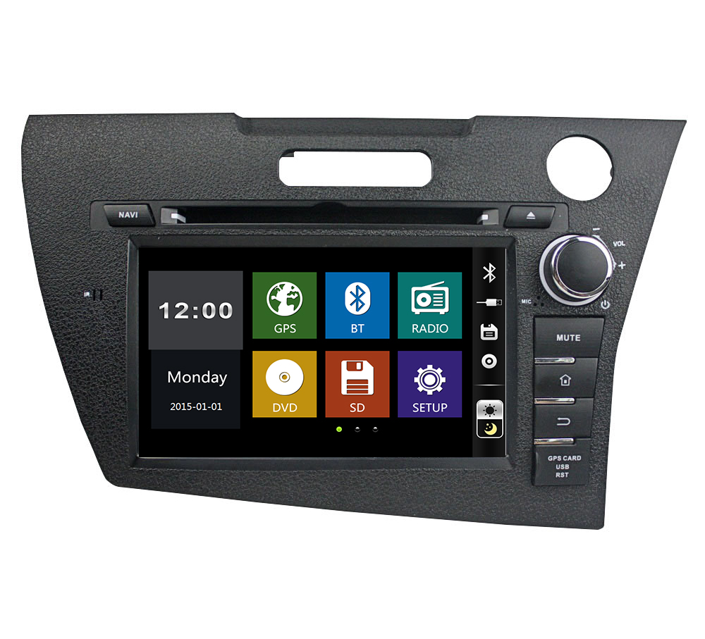 7 inch in-dash Car DVD player with <font><b>GPS</b></font> Navi(optional),audio Radio stereo,USB/SD,AUX,BT/TV,car multimedia headunit for <font><b>Honda</b></font> <font><b>CRZ</b></font> image