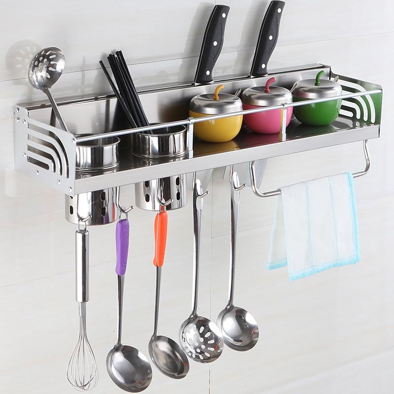 Kitchen And Bathroom Rack Kitchen Hanging Rack Hanger Hanger Tool Carrier Space Aluminum Kitchen Rack Hanging LU50713
