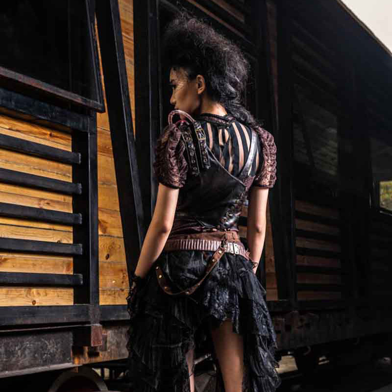 Costumes & Accessories Retro Bronze/black Metallics Rubber Steampunk Pipeline Gas Mask Gothic Punk Game Women/men Halloween Cosplay Costume Accessories Good Taste Kids Costumes & Accessories