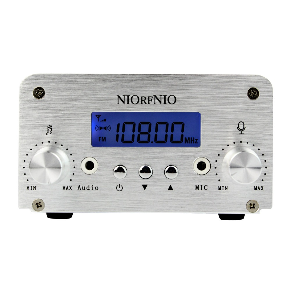 NIORFNIO 1W / 6W PLL FM Transmitter Mini Radio Stereo Station Broadcast with LCD Display Only Host For Radio Y4339D heco inc 82