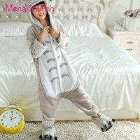 Mengshufen Pajamas Set Kids Totoro Sleepwear Set Flannel Animal Winter Children Girls Boys Unsiex Pyjamas Cartoon