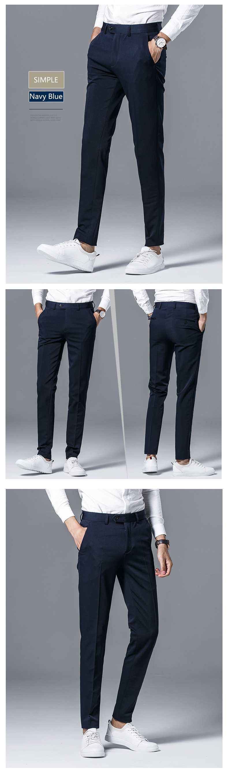 d2366375a7728c Desirable Time Mens Black Dress Pants Size 28-36 Fashion Brand ...