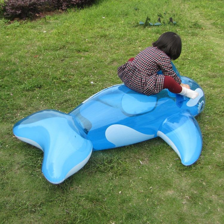 Pool InflatableGiant Blue Whale Inflatable Outdoor Summer Children's Ride-on Beach Floating Boat Outdoor Toy Swimming Ring Pool