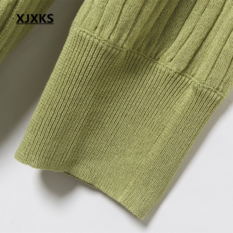 Con Primavera Streetwear Mujeres Ropa Cardigan Camis Suéter Bolsillos Conjunto Mini Y verde Dos Verano Top caqui Vestido Xjxks Piezas Apricot Zqxzd44X