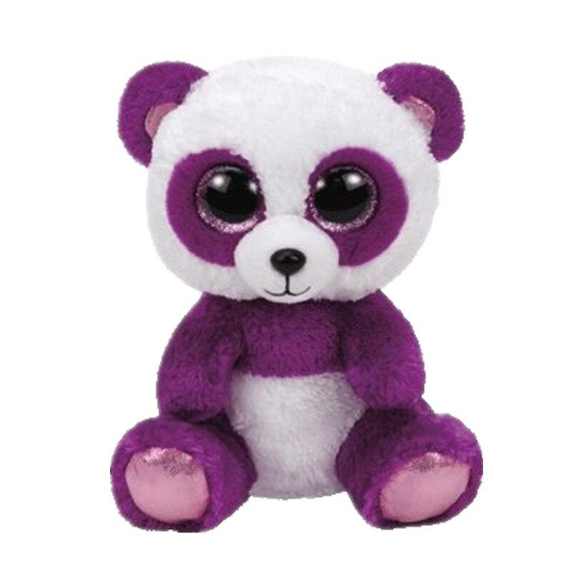 6 15 см Beanie Боос оригинальный большой Средства ухода для век плюшевые игрушки куклы для детей со дня рождения фиолетовый пандой для младенце...