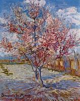 Peach Tree in Bloom in Memory of Mauve, 1888 by Vincent Van Gogh Oil Painting Reproduction on Canvas Impressionist Hand Painted