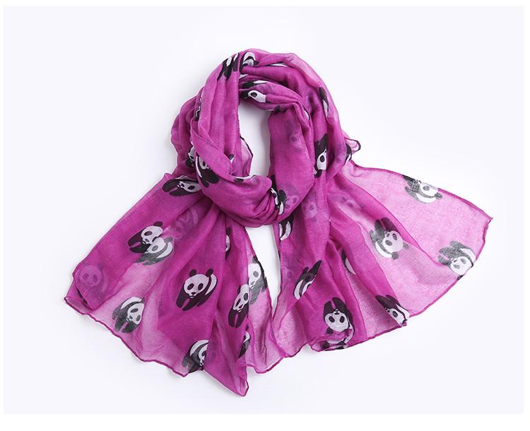 Panda Lady Chiffon Scarves | Shawls & Wraps