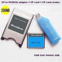 Carte CF 256 MB à PCMCIA CARTE adaptateur et lecteur de carte CF 3 en 1 combo pour L'industrie Fanuc mémoire utiliser