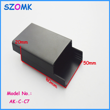 1 piece professional aluminium housing enclosure powder coating distribution box for electronics 20x50x80mm
