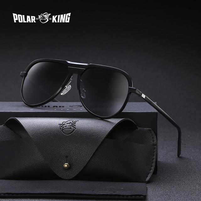 POLARKING 016 Aluminum Frame Mirror Polarized Sunglasses