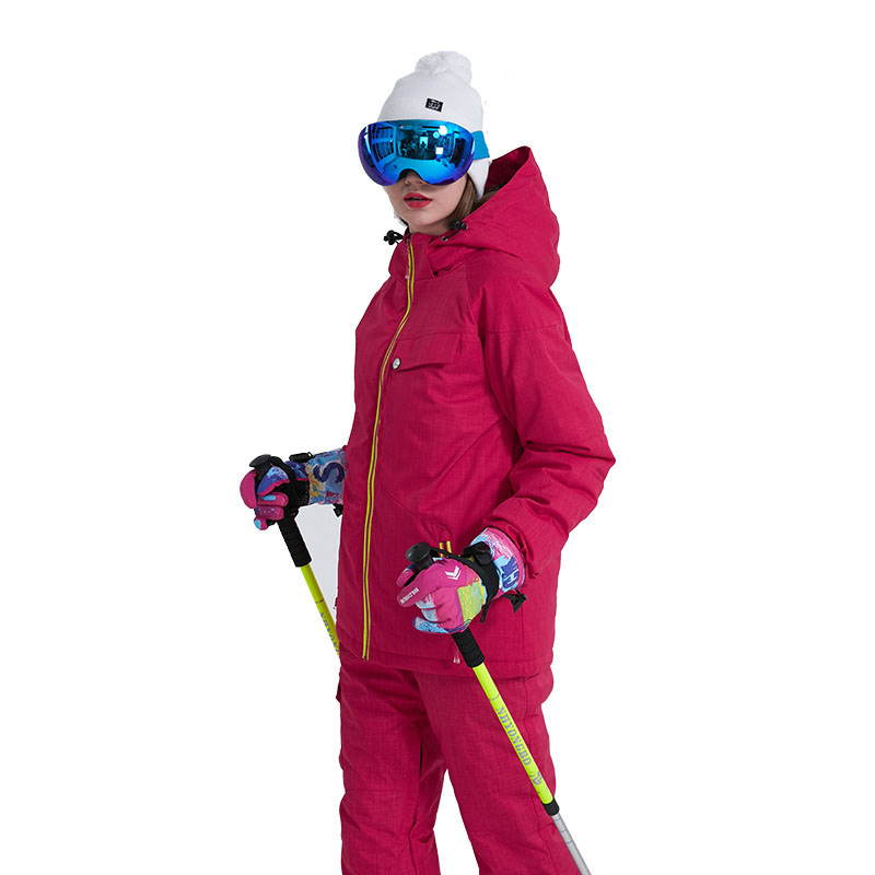 Women Solid Ski Suit Winter Warm Waterproof Skiing Suit Sets Snow Jackets Pants Snowboard Ski Clothing Set Sportswear