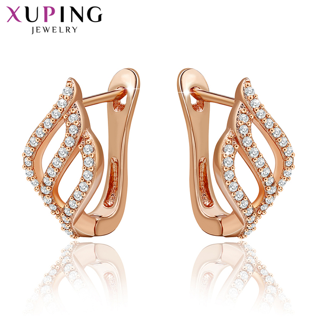 Xuping Fashion Earrings High Quality European Style Charm Design Rose Gold Color Plated Jewelry Valentine's Gift S17-90045