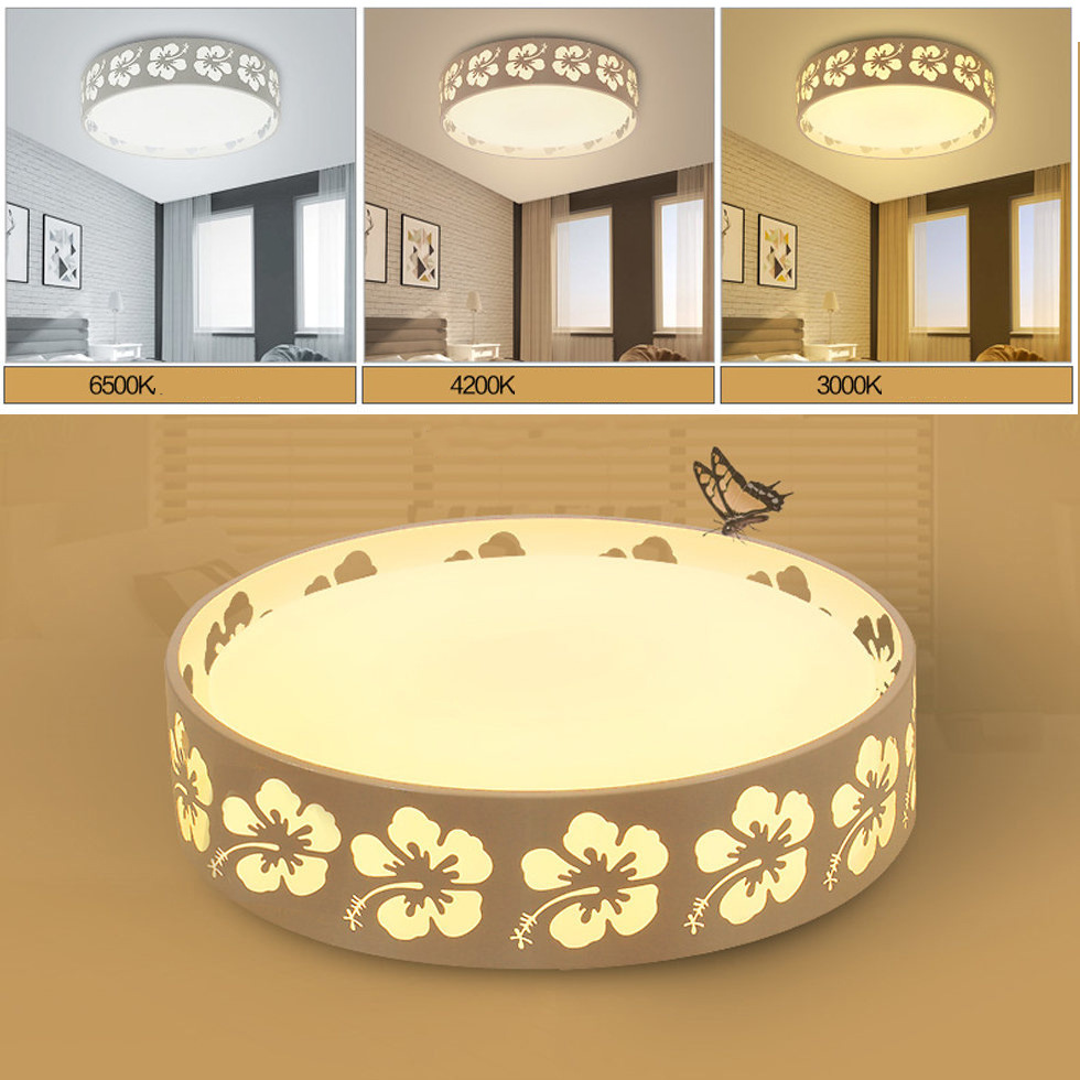 24W/36W/48W Cherry Blossoms Design 3 Colors Adjustable LED Ceiling Light Home Living Room Bedroom Study Room Lighting 220V24W/36W/48W Cherry Blossoms Design 3 Colors Adjustable LED Ceiling Light Home Living Room Bedroom Study Room Lighting 220V