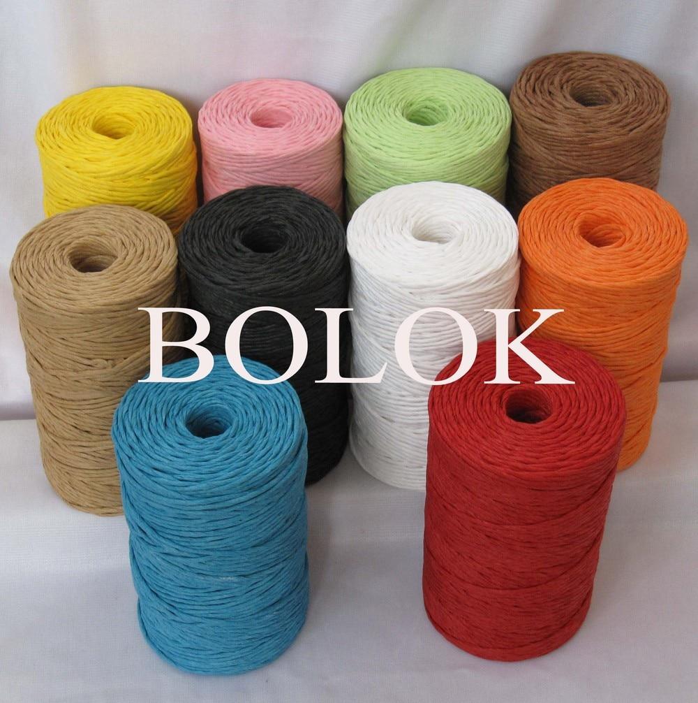 10 tipos de color 100 yardas / carrete (20pcs / lot) hilo de papel - Para fiestas y celebraciones - foto 2