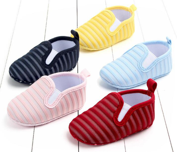 Baby Shoes Boys Newborn Infant Shoes Prewalkers Girls Crib Shoes 2019 Autumn 0-18M Slip On Navy Pink Yellow Blue SandQ Baby
