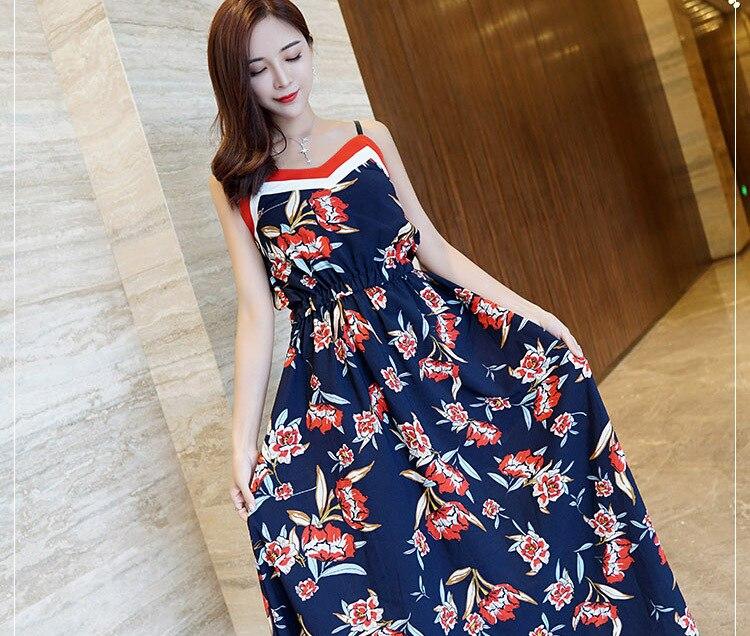 2018 femme d'été Thai style jupe harnais robe Bikini bord de mer vacances robe jupe robes de plage bord de mer vacances robes mince - 3