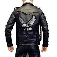 Большой орел вышитые швейные этикетки панк нашивка для байкеров наклейки для одежды аксессуары для одежды значок