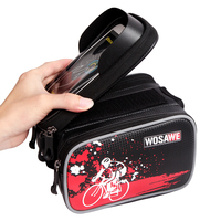 WOSAWE PVC Bicycle Frame Front Head Top Tube Waterproof Bike Bag Double IPouch Cycling For 6