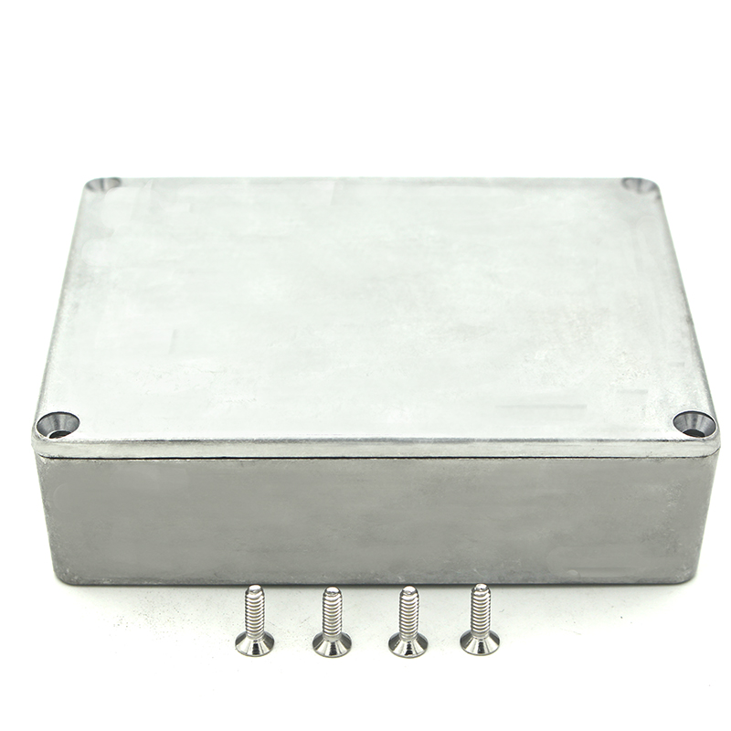 Electronic Project Case Aluminium Enclosure Diecast Stompbox Project Box With 4 Steel Screws 120x95x35mm