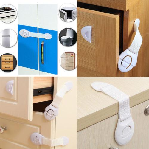 New Child Infant Baby Kids Drawer Door Cabinet Lock Cupboard Toddler Locks Safety Protection Lock