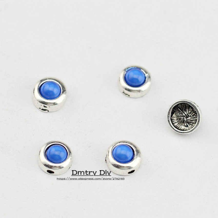 Dmter 10 sztuk naszyjnik bransoletki Making koraliki cukierki kolor 1.7MM otwór wykorzystanie z 1.5mm skórzana linka dokonywanie ocena biżuteria LC0115