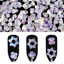 Hot 1g Colorful Diamonds Nail Sequins 1Box Mermaid Jade Nail Glitter Emerald Color Pentagon Paillette Manicure Shiny Nail Flakes(China)