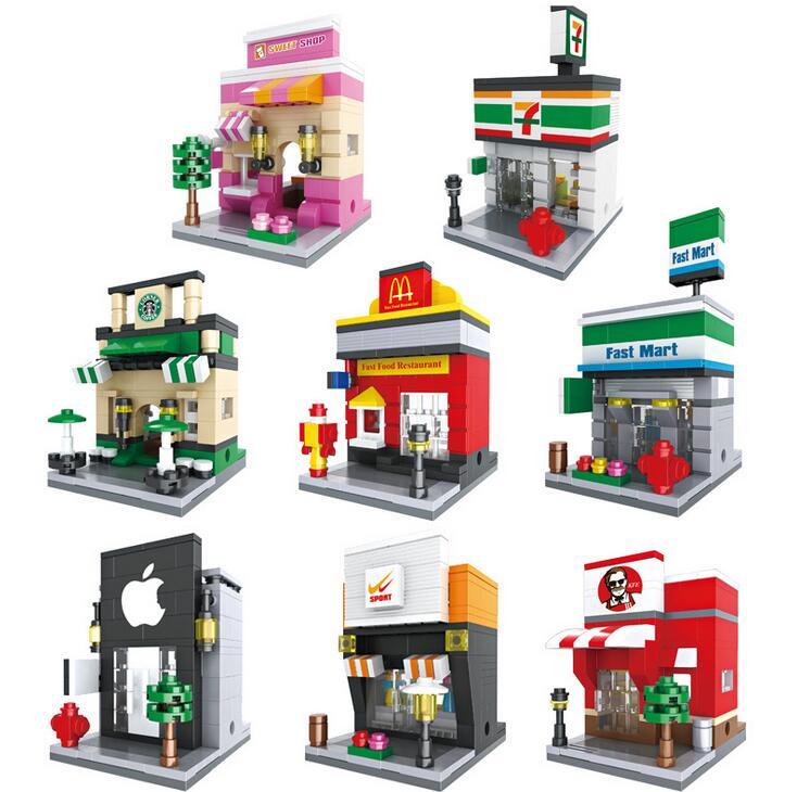 2017 NEW Mini Retail Store Building Block Scene Arcs