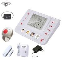 GPRS GSM inalámbrico Sistema de Alarma Medidor de Presión Arterial de Cuidado de Ancianos SOS Botón de Pánico Puerta de Contacto y Gas Sensor de Fugas de Anciano seguro de Asistencia