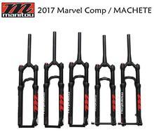 "2017 Manitou חדש Comp (המקצץ) 27.5 ""29"" 27.5er 29er 9mm 15QR QR15mm השעיה אופני אופניים MTB מזלג סגסוגת דיסק בלם מזלג"