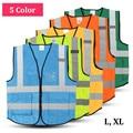 Nueva alta visibilidad clothing clothing reflectante de seguridad chaleco l, xl, color 5 el trabajo nocturno de seguridad de tráfico de ciclo