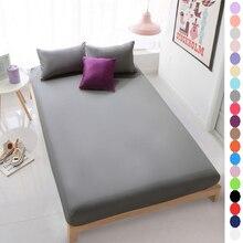 1-piece 100% Algodón 600TC sábanas, gris/negro/blanco sábana ajustable, 120*200 cm de Profundidad 30 cm sábana, 19 colores sólidos ropa de cama sábanas