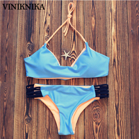 VINIKNIKA 2017Fight Color Line Tethers Double Color Bikini Swimming Suit Sexy Bikini Swimwear Summer Women Bikini