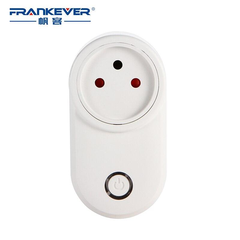 FrankEver Israel WIFI enchufe inteligente de tiempo inteligente Socket Wireless salida de voz inteligente Control con Alexa de Google
