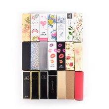 10 adet/grup 5G 5ml dudak balsamı tüp ambalaj karton kutu 21 renkler ruj tüpü DIY ambalaj kutusu 25*25*88mm renkli Kraft kağıt hediye
