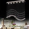 Гостиная  спальня  современный минималистский ресторан  люстра с подвеской  волнистые хрустальные лампы  бар  столовая  светодиодные лампы